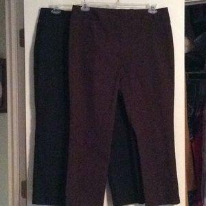 🔥 Bundle 2 for $10 - 2 Pants - Black/Brown - 14
